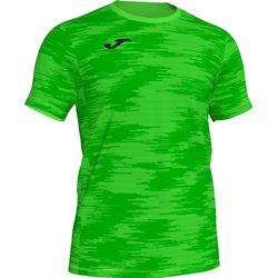 Joma Grafity Shirt Korte Mouw Heren - Fluo Groen