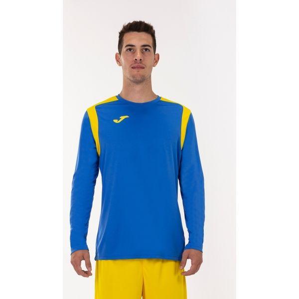 Joma Champion V Voetbalshirt Lange Mouw Heren - Royal / Geel