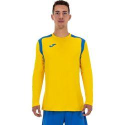 Joma Champion V Voetbalshirt Lange Mouw Heren - Geel / Royal