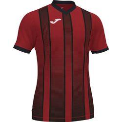 Joma Tiger II Shirt Korte Mouw Kinderen - Rood / Zwart