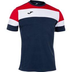Joma Crew IV T-Shirt Heren - Marine / Rood / Wit