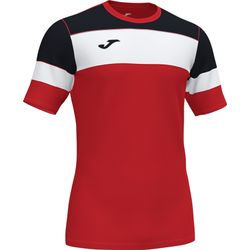 Joma Crew Iv T-Shirt Kinderen - Rood / Zwart / Wit
