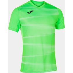 Joma Grafity II Shirt Korte Mouw Kinderen - Fluo Groen / Wit