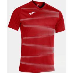 Joma Grafity II Shirt Korte Mouw Heren - Rood / Wit