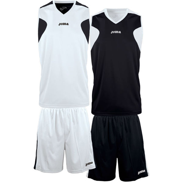 Joma Reversible Basketbalset Heren - Wit / Zwart