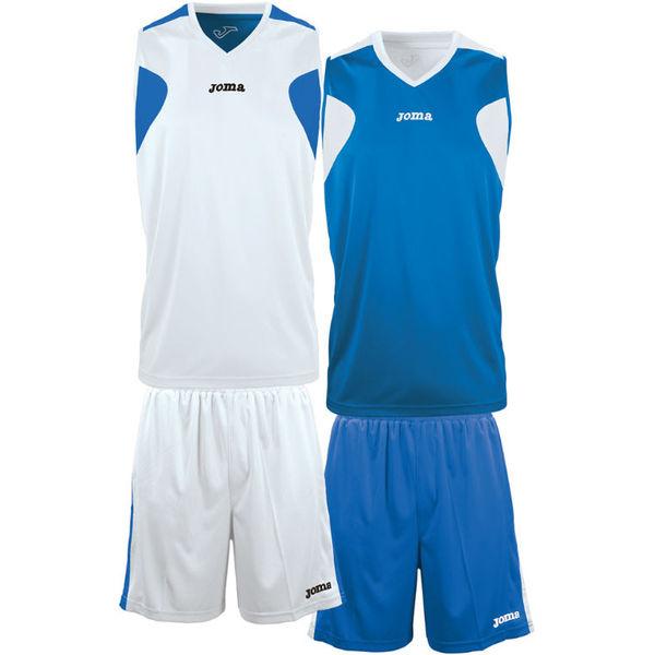 Joma Set De Basketball Réversible Hommes - Blanc / Royal