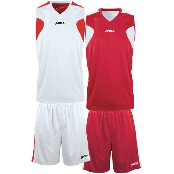 Joma Set De Basketball Réversible Hommes - Blanc / Rouge