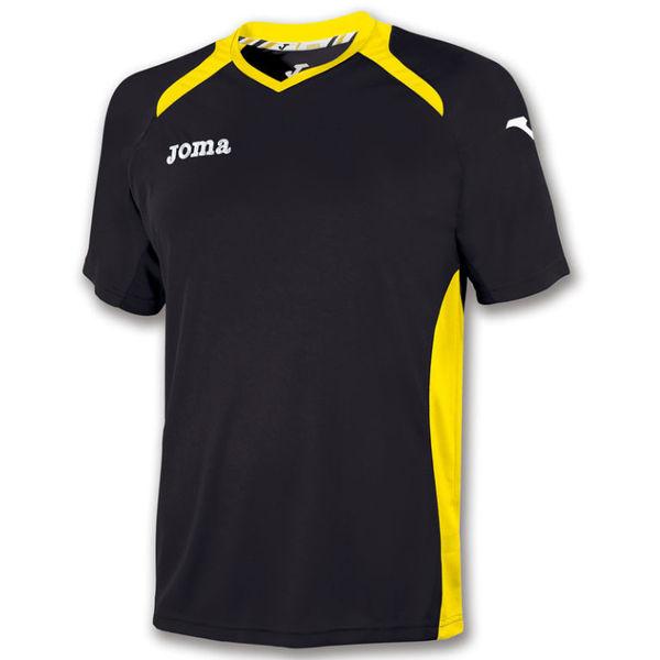 Joma Champion II Shirt Korte Mouw Heren - Zwart / Geel