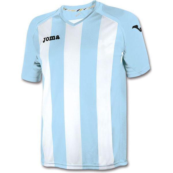 Joma Pisa 12 Shirt Korte Mouw Heren - Lichtblauw / Wit