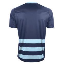 Voorvertoning: Joma Europa II Shirt Korte Mouw Heren - Marine / Lichtblauw