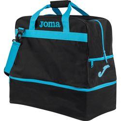 Joma Training III (Large) Sac De Sport Avec Compartiment Inférieur - Noir / Fluor Turquoise