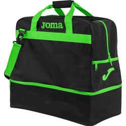 Joma Training III (Large) Sporttas Met Bodemvak - Zwart / Fluo Groen