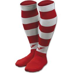 Joma Zebra II Chaussettes De Football - Rouge / Blanc