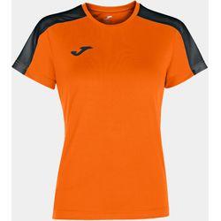 Joma Academy III Maillot Manches Courtes Femmes - Orange / Noir