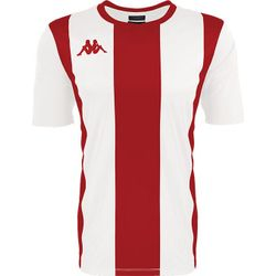 Kappa Caserne Maillot Manches Courtes Hommes - Blanc / Rouge
