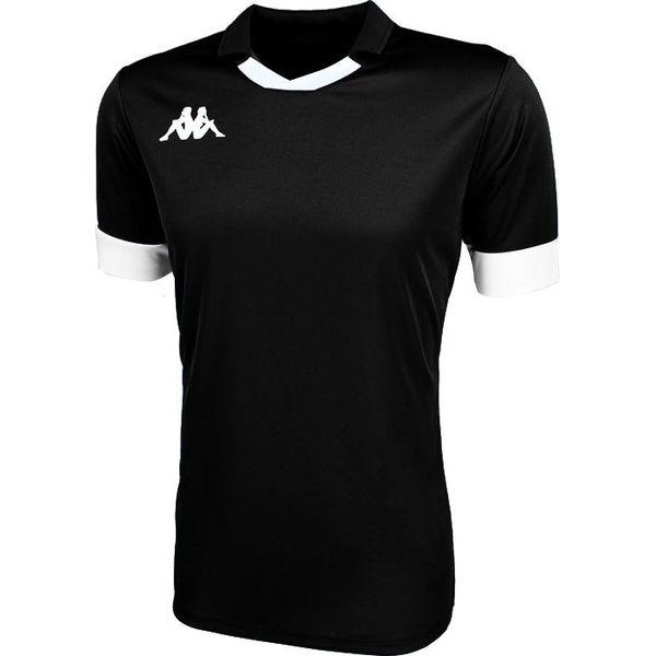 Kappa Tranio Shirt Korte Mouw Heren - Zwart / Wit