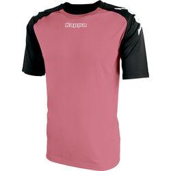 Kappa Paderno Shirt Korte Mouw Heren - Roze / Zwart