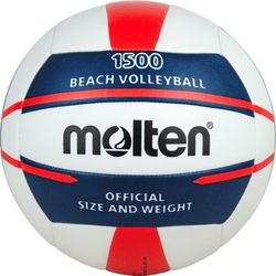 Molten V5b1500 Beachvolleybal - Wit / Blauw / Rood