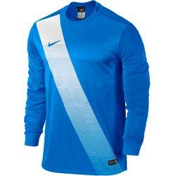 Nike Sash Voetbalshirt Lange Mouw - Royal Blue / White