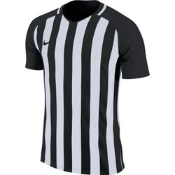 Nike Striped Division III Maillot Manches Courtes Hommes - Noir / Blanc