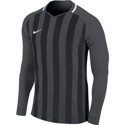 Nike Striped Division III Voetbalshirt Lange Mouw Heren - Antraciet / Zwart
