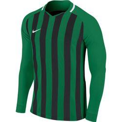 Nike Striped Division III Voetbalshirt Lange Mouw Heren - Groen / Zwart