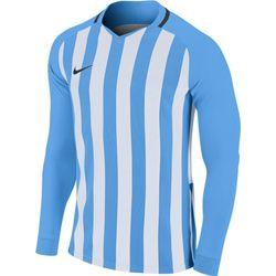 Nike Striped Division III Voetbalshirt Lange Mouw Heren - Hemelsblauw / Wit