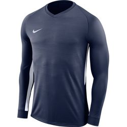 Nike Tiempo Premier Voetbalshirt Lange Mouw Kinderen - Marine / Wit