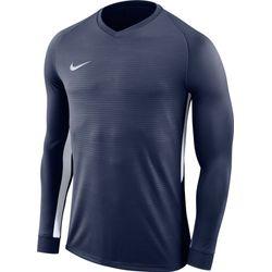 Nike Tiempo Premier Voetbalshirt Lange Mouw - Marine / Wit