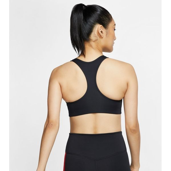 Nike Swoosh Medium-Support Bra Dames - Zwart