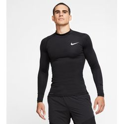 Nike Pro Shirt Opstaande Kraag Heren - Zwart