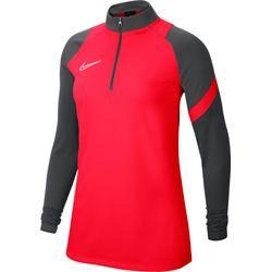 Nike Academy Pro Ziptop Dames - Fluorood / Antraciet