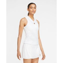 Nike Court Dri-Fit Slam Tennis Top Femmes - Blanc