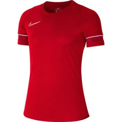 Nike Academy 21 T-Shirt Dames - Rood / Wit