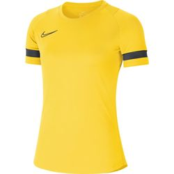 Nike Academy 21 T-Shirt Dames - Geel / Antraciet