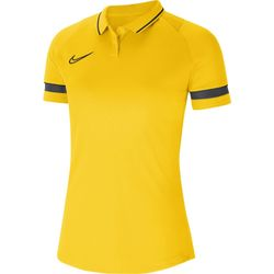 Nike Academy 21 Polo Dames - Geel / Antraciet