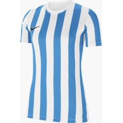 Nike Striped Division IV Shirt Korte Mouw Dames - Wit / Lichtblauw