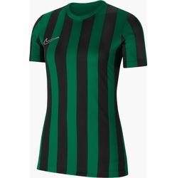Nike Striped Division IV Shirt Korte Mouw Dames - Groen / Zwart