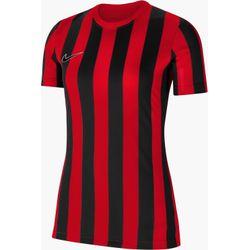 Nike Striped Division IV Shirt Korte Mouw Dames - Rood / Zwart