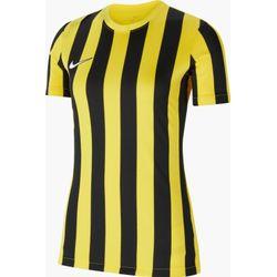 Nike Striped Division IV Shirt Korte Mouw Dames - Geel / Zwart