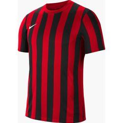 Nike Striped Division IV Shirt Korte Mouw Kinderen - Rood / Zwart