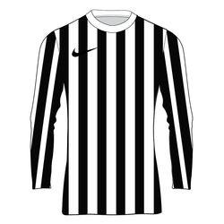 Nike Striped Division IV Maillot À Manches Longues Enfants - Blanc / Noir