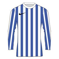 Nike Striped Division IV Maillot À Manches Longues Enfants - Blanc / Bleu Ciel