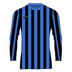 Nike Striped Division IV Maillot À Manches Longues Enfants - Royal / Noir