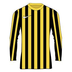 Nike Striped Division IV Maillot À Manches Longues Enfants - Jaune / Noir