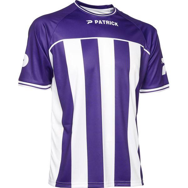 Patrick Coruna Shirt Korte Mouw Heren - Paars / Wit