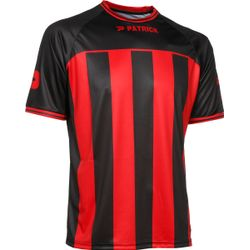 Patrick Coruna Shirt Korte Mouw Heren - Zwart / Rood