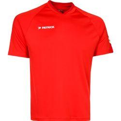 Patrick Dynamic Shirt Korte Mouw - Rood / Donkerrood
