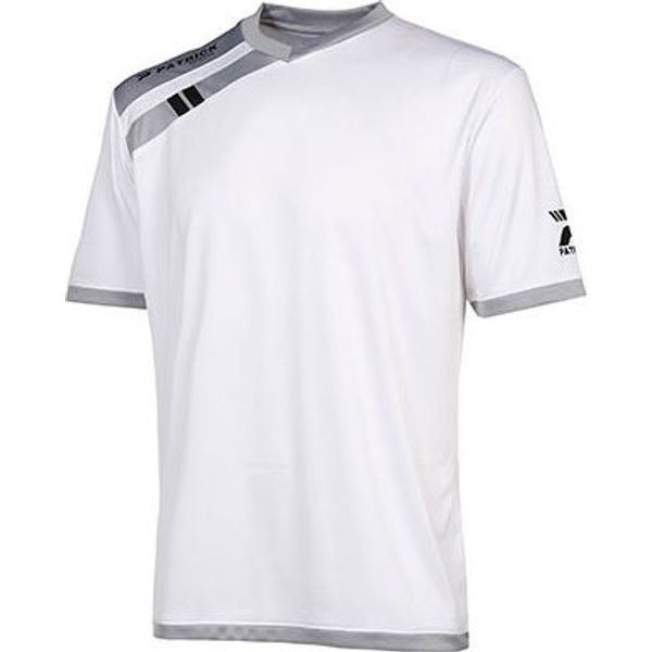 Patrick Force Shirt Korte Mouw - Wit / Grijs