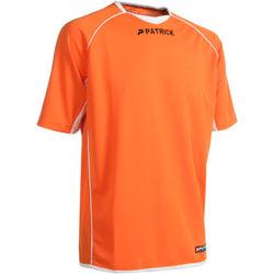 Patrick Girona101 Shirt Korte Mouw Heren - Oranje / Wit